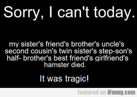 Sorry, I Can't Today - My Sister's Friend's... 1