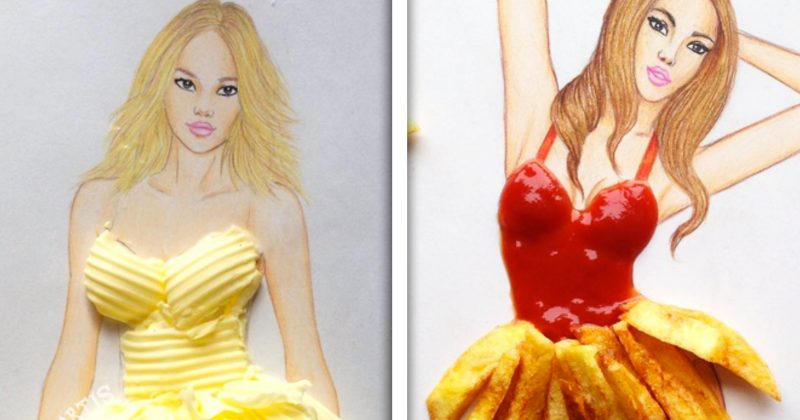 This Artist's Gorgeous Fashion Illustrations Will Make You Jealous (And Hungry)