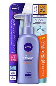 Nivea Super Sun Protect Water Gel SPF 50/PA+++ (Face & Body)Pump Type 140 g (Japan Import)