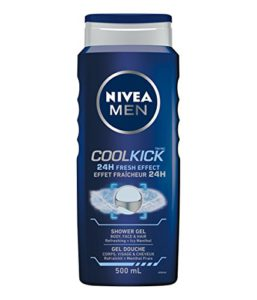 NIVEA MEN Cool Kick 24H Fresh Effect Shower Gel, 500mL