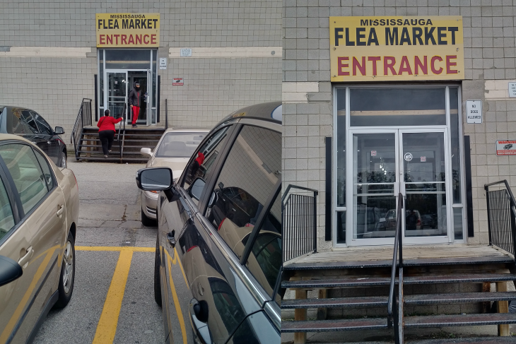 mississauga flea market entrance