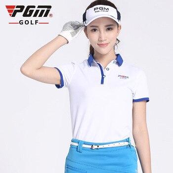2017 Women Golf t Shirt Short Ladies Golf Clothing Shirts Coat Quick Dry Sport Tshirt Breathble Female Clothes Summer POLO shirt