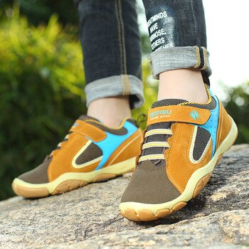 2018 Genuine Leather Children Boy Shoes Size 28-37 Waterproof Kids Sneakers Breathable Girls Boys Sports Shoes Outdoor Trainers