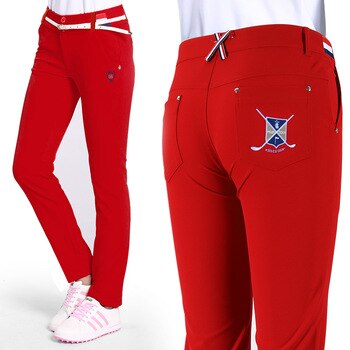 3Colors New Ultra-thin Lady Clothes Women Full Length Pants XS-L Trousers Sportwear female Slim Trouser pencil Golf/Tennis Pant