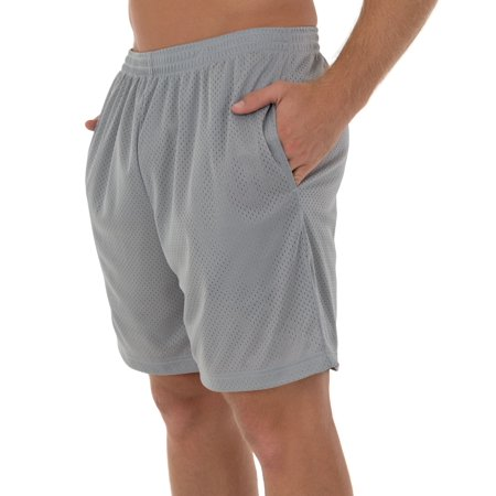 Athletic Works Men's and Big Men's Active Ricehole Mesh Short, up to 5XL