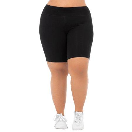 Athletic Works Women's Plus Size Cotton Blend Core Bike Short
