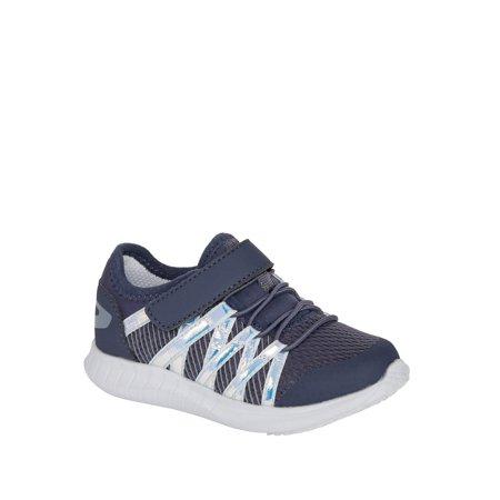 Athletic Works Zig-Zag Lightweight Running Sneaker (Toddler Girls)