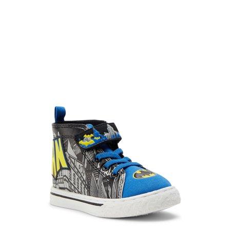 Batman Logo Casual High-Top Sneaker (Toddler Boys)