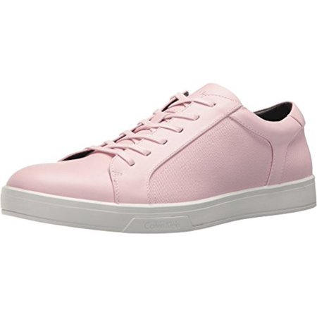 Calvin Klein Mens Bowyer Leather Low Top Lace Up Fashion Sneakers