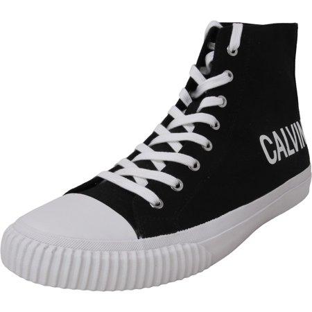 Calvin Klein Men's Iacopo Canvas Black High-Top Fabric Sneaker - 11.5M