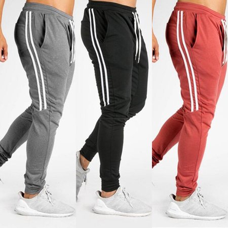 Fashion Men Track Pants Casual Sports Jogging Bottoms Jogger Gym Sweats Trousers