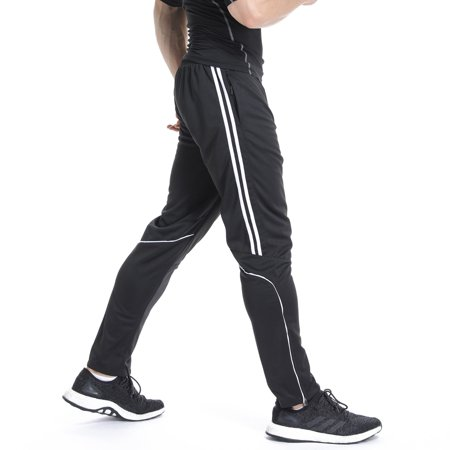 FITTOO Men Soccer Training Pants Athletic Track Pants Sports Active Pants Running Jogger Pants Fit Trousers