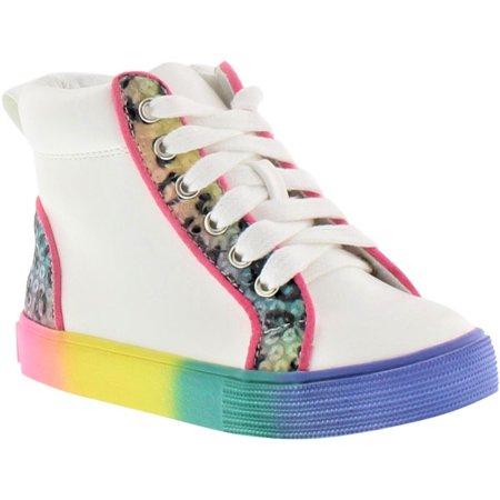 Jessica Simpson Olivia Cheetah High Top Sneaker (Toddler Girls)
