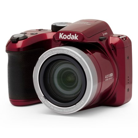 KODAK PIXPRO AZ401 Bridge Digital Camera - 16MP 40X Optical Zoom HD720p video (Red)
