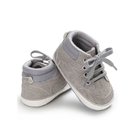 Newborn Baby Kids Girl Boys Cute Cotton First Walkers Lace-Up Sneakers Shoes