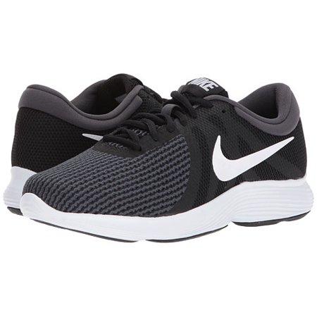 Nike REVOLUTION 4 Womens Black White Athletic Running Shoes