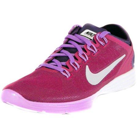 Nike Womens Lunar Hyperworkout XT+ Running Shoes Fuchsia/Grey/Purple