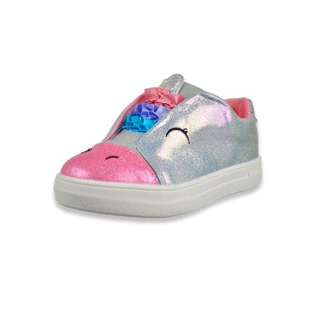 Nina Girls' Unicorn Sneakers (Sizes 5 - 10)