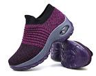 Premium Women's Walking Shoes Sock Sneakers Mesh Slip On Air Cushion Girls Moder