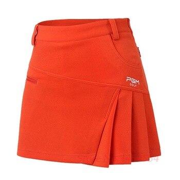Send Belt! PGM Woman Short Skirt Summer Clothes Pantskirt Anti Emptied Golf Shorts Pleated Skirt Tennis Safety Wrinkle Skorts