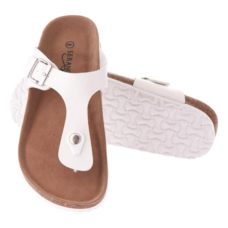 Seranoma Thong Sandal For Women ? Platform Slide Sandals With Cork Wedge Sole And Microfiber Insole, Buckle Closure, Easy Slip On, Comfortable Design For Spring And Summer, Boho Style