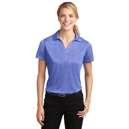 Sport-Tek Women's Moisture Wick Short Sleeve Polyester Golf Polo Shirt