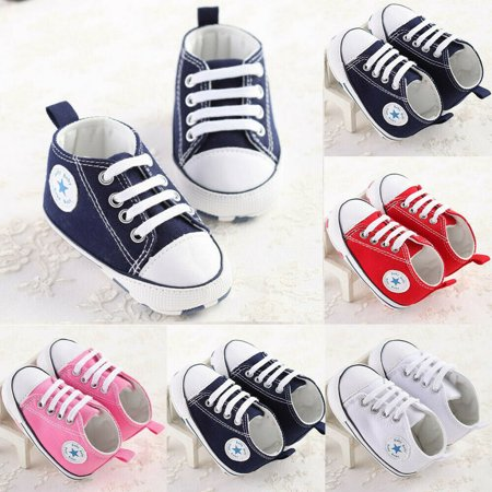 SUNSION Infant Toddler Baby Boys Girls Soft Sole Crib Shoes Sneaker Newborn 0-18 Months