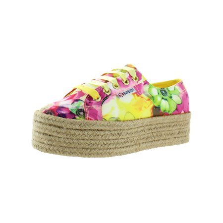 Superga Womens 2790 Canvas Floral Platform Sneakers