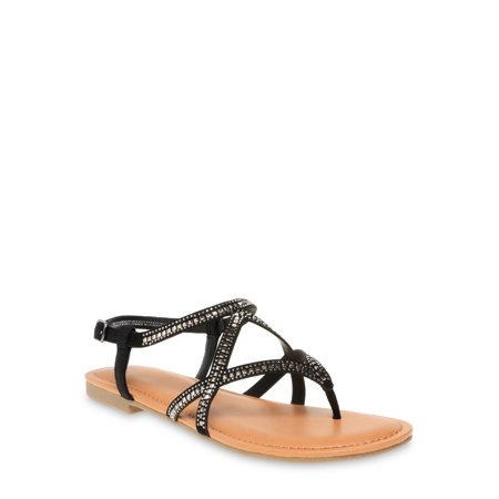 Time and Tru Embellished Strappy Sandal (Women's)