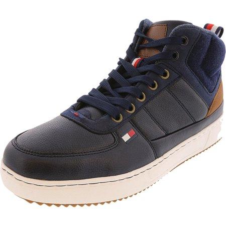 Tommy Hilfiger Men's Manzu Dark Blue High-Top Sneaker - 11.5M
