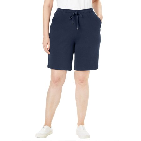 Woman Within Plus Size Sport Knit Short Shorts