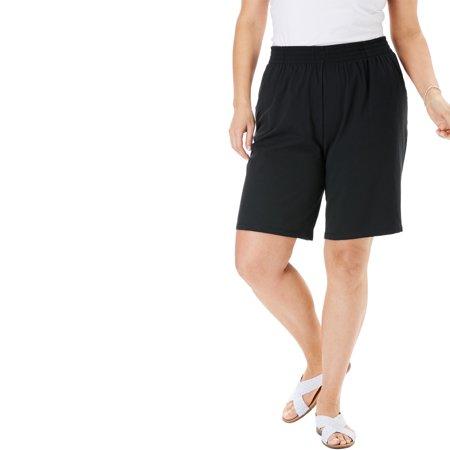 Woman Within Women's Plus Size Jersey Knit Short