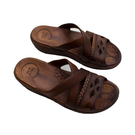 Womens Comfort and Stylish Hawaii Sandals Brown Slipper (Size LL)