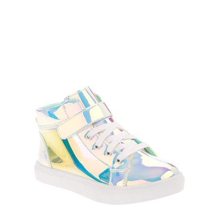 Wonder Nation Athletic Iridescent High-Top Sneaker (Toddler Girls)