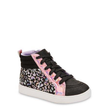 Wonder Nation Lucky Leopard Athletic High-Top Sneaker (Little Girls & Big Girls)