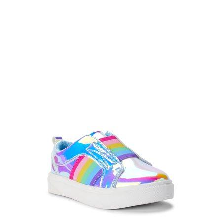 Wonder Nation Rainbow Twin Gore Court Sneaker (Toddler Girls)