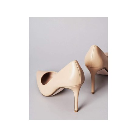 Amazon Brand - find. Women's High Heel Leather Pumps Beige), US, Beige, Size 5.0