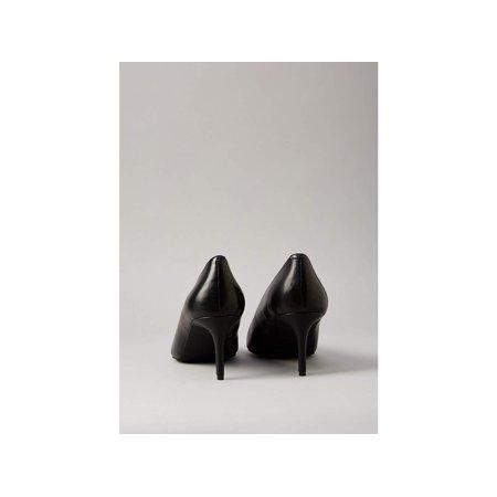 Amazon Brand - find. Women's Mid Heel Leather Pumps Black), US, Blue, Size 8.5