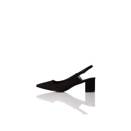 Amazon Brand - find. Women's Slingback Pump Black), US 9.5, Blue, Size 9.5