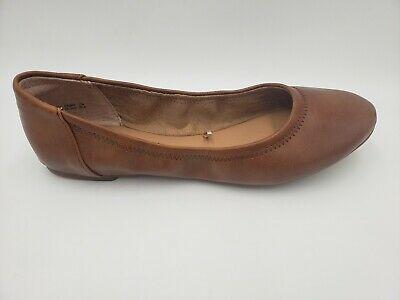 Amazon Essentials Womens Ballet Flat Shoes Tan Size 8.5