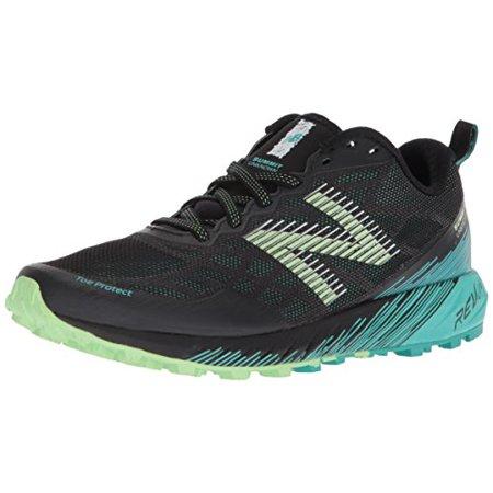 new balance women's summit unknown trail running shoe, green/black, 8 d us