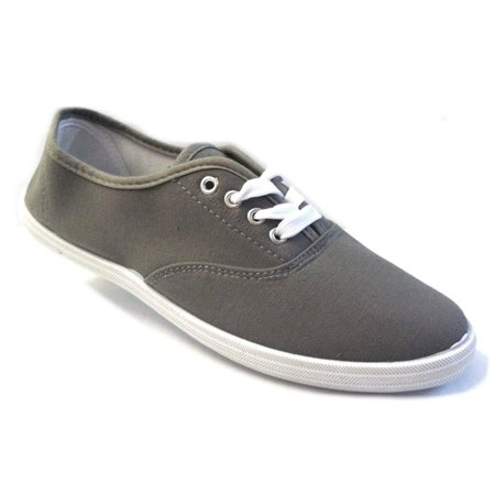 Shoes 18 Womens Canvas Shoes Lace up Sneakers 18 Colors Available (5 B(M) US, Grey 324)