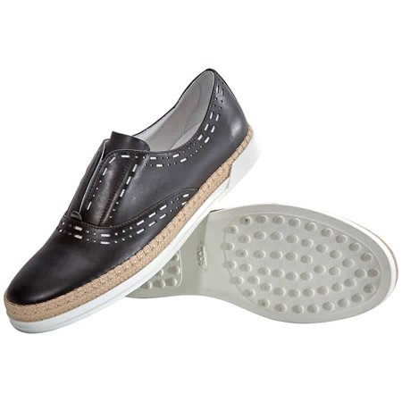 Tods Womens Shoes Black ( US Size White, Brand Size 39.5 ( US Size 9.5 )