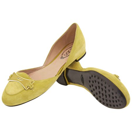 Tods Womens Shoes Medium Lemon, Brand Size 35.5 ( US Size 5.5 )