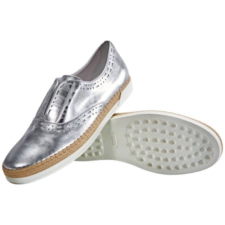 Tods Womens Shoes Silver ( US Size White, Brand Size 42 ( US Size 12 )
