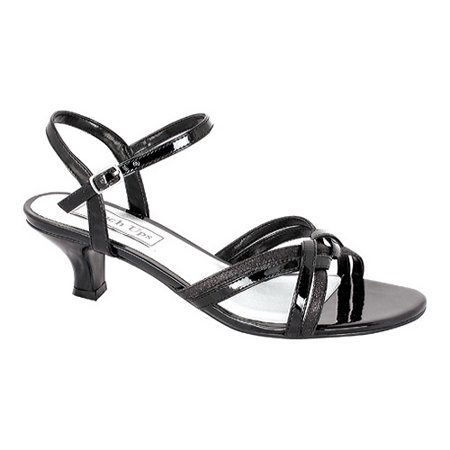 touch ups womens melanie ankle strap sandal,black,10.5 m us